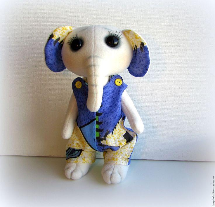 Купить Мягкая игрушка Слоник, 27см. - сиреневый, игрушка слоник, слон игрушка, текстильный слоник