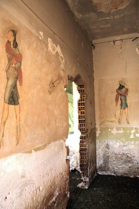 Italian Frescoes Leros Island, Greece