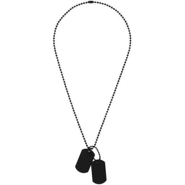 TOPMAN Dogtag Necklace (£3) ❤ liked on Polyvore featuring men's fashion, men's jewelry, men's necklaces, jewelry, necklaces, roger hammerstein, black and mens dog tag necklace