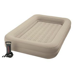 Intex 66810 Airbed Lit gonflable Enfant Floque + Gonfleur de Voyage
