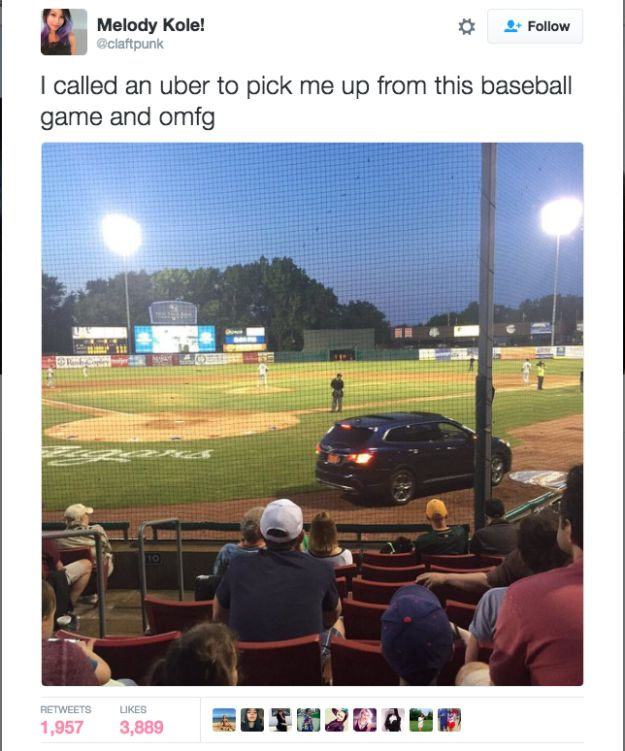 This might just be the greatest Uber arrival of all time. | 23 Tweets That Will Make You Laugh Like Fuck