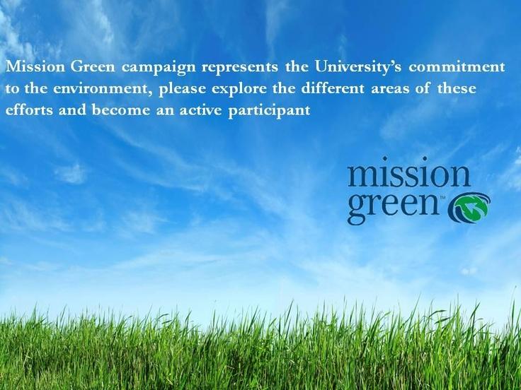 FAU's mission Green...take the pledge