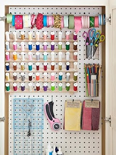 organization for the sewing room/closet