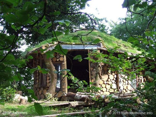 This Is Tony Wrench 39 S Cordwood Roundhouse Den In Wales