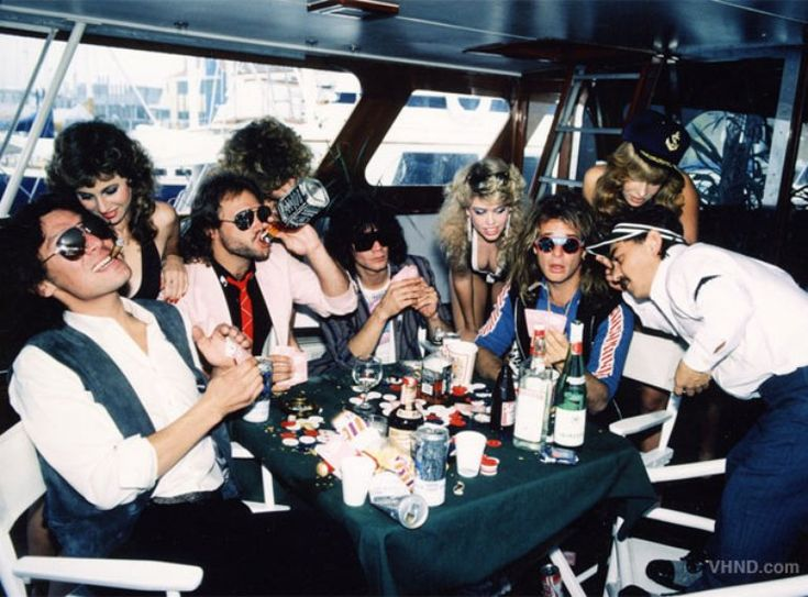 Van Halen having fun