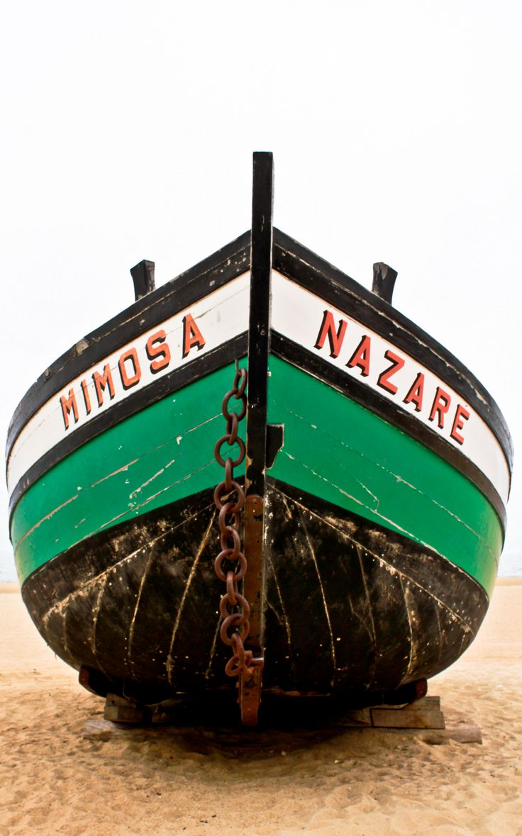 ♥ Nazaré ♥ Small Fishing boat from Nazaré Portugal