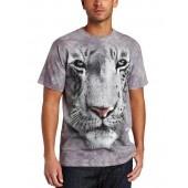 Camiseta - The Mountain - White Tiger Face jlle1 @jlle1.com