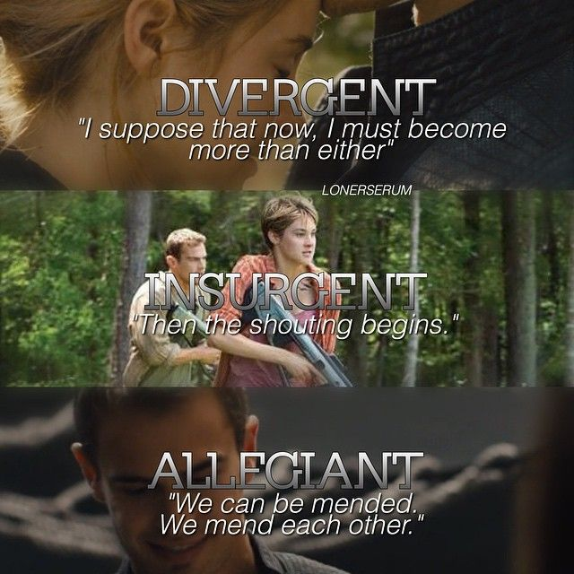 The last lines of #Divergent, #Insurgent, and #Allegiant… by @lonerserum - PICBI