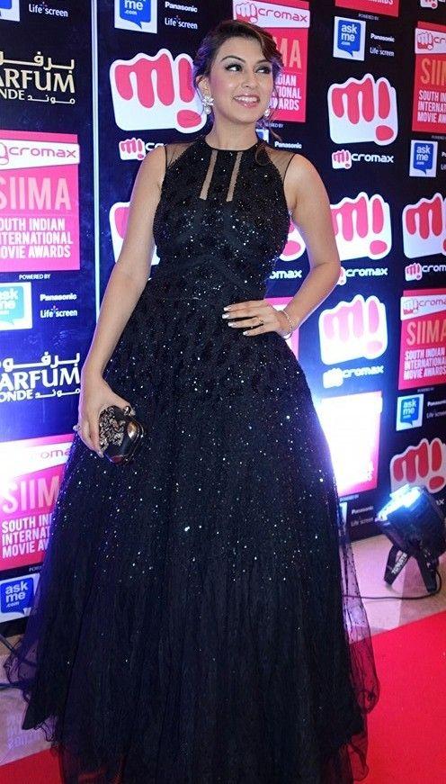 Hansika Motwani in Black Evening gown