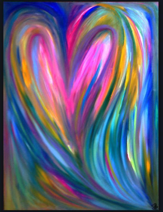 """SPREAD LOVE"" Oil/Acrylic Painting by Shon Hudspeth www.shonsart.com"