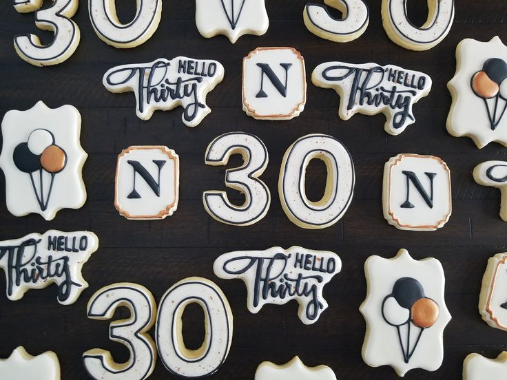 30th birthday cookies for men Birthday cookies, 30th