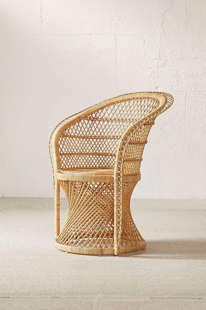 Carlie Rattan Chair   Urban Outfitters