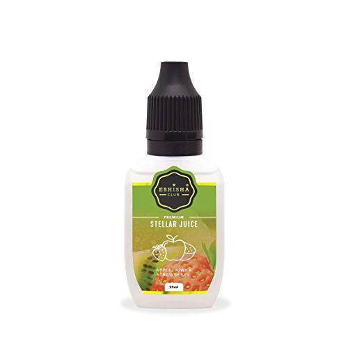 eShisha Club STELLAR Juice 25ml - Apfel Kiwi Erdbeere-Geschmack | e-Zigarette | e Liquid Wiederauff�llung | e Shisha eLiquid Flasche | 5000 Z�ge | Wiederaufladbare Elektronische Zigarette Liquid | Nikotinfrei | Ohne Tabak | 0mg Nikotin | UK Marke