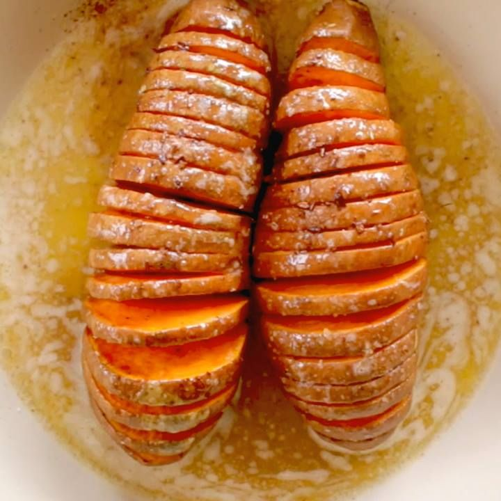 Hasselback Maple Cinnamon Sweet Potatoes! LIKE Cooking Panda for more delicious videos!!!