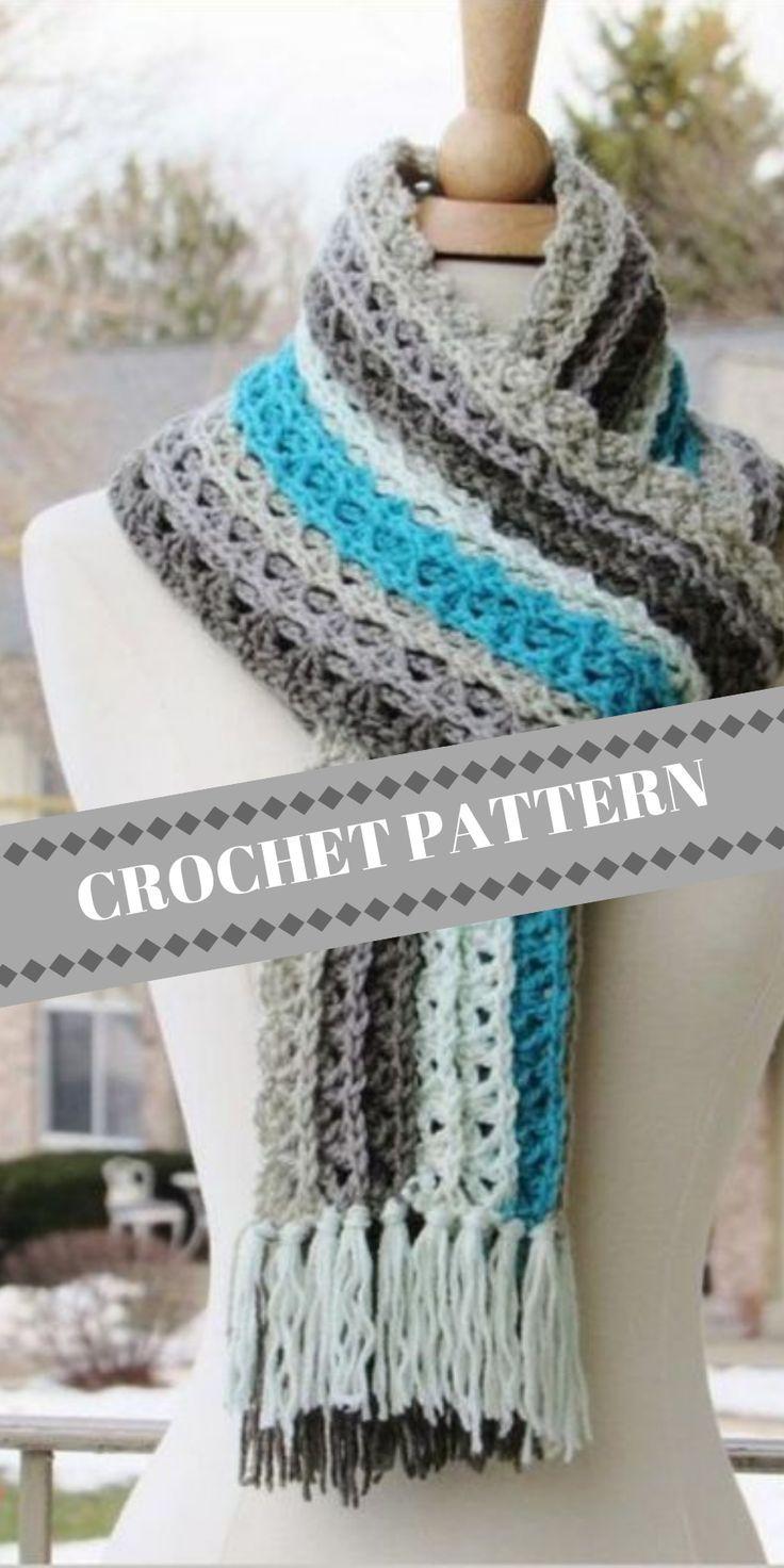 Ocean Waves Scarf Crochet Something Beautiful Pinterest