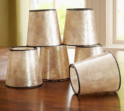 mica chandelier shades from pottery barn