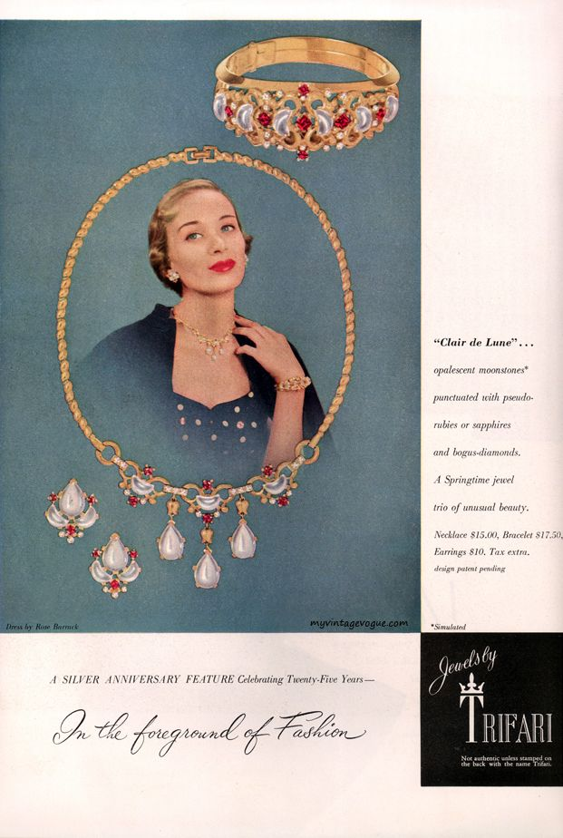 134 best Vintage Jewelry Ads images on Pinterest | Jewelry ads ...