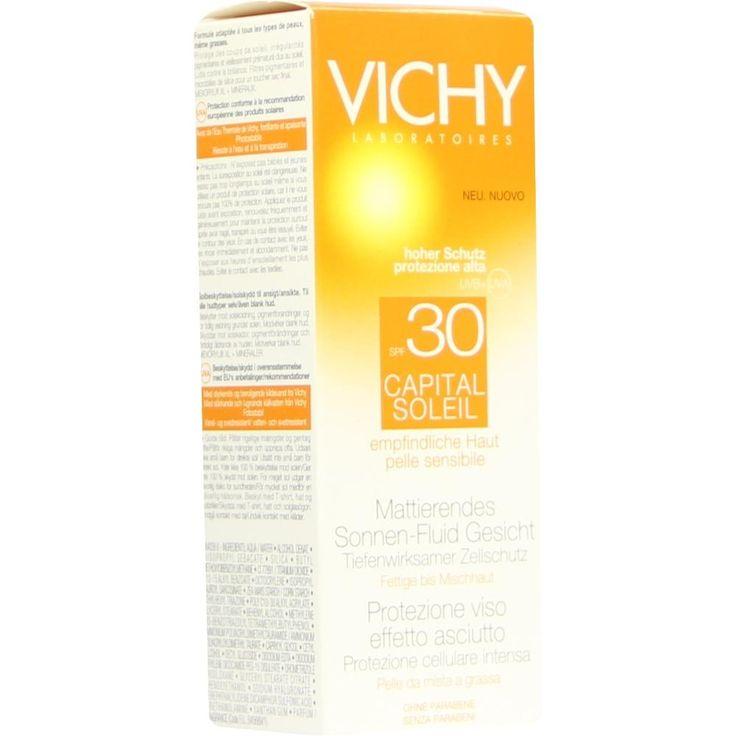 VICHY CAPITAL Soleil Sonnen-Fluid LSF 30:   Packungsinhalt: 50 ml Milch PZN: 08801797 Hersteller: L Oreal Deutschland GmbH Preis: 10,60…