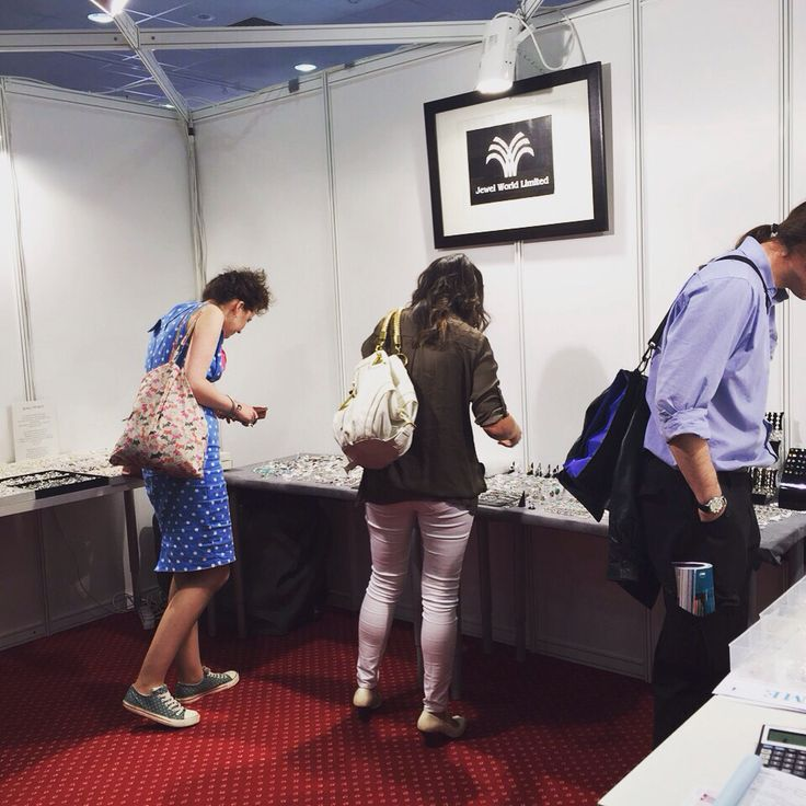 Customers looking at Jewel World Ltd jewellery .stand QS20 #home_and_gift#harrogate