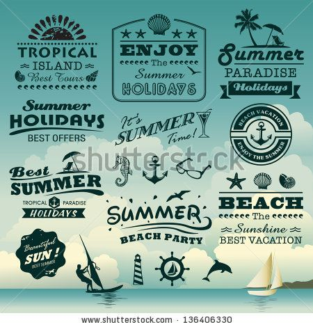 Vintage summer beach/sailor logo designs | Ideation ...