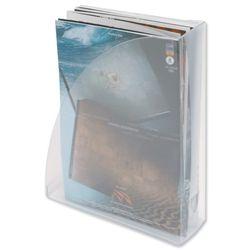 W80mm x D254mm x H310mm 5 Star Magazine Rack File Low Sill W80xD254xH310mm Crystal
