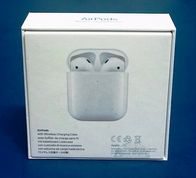 Apple Airpods With Wireless Charging Case White Authentic 2nd Gen Mrxj2m A 119 99 Apple Airpods New 2nd Gen Apple Wireless Apple Airpods 2