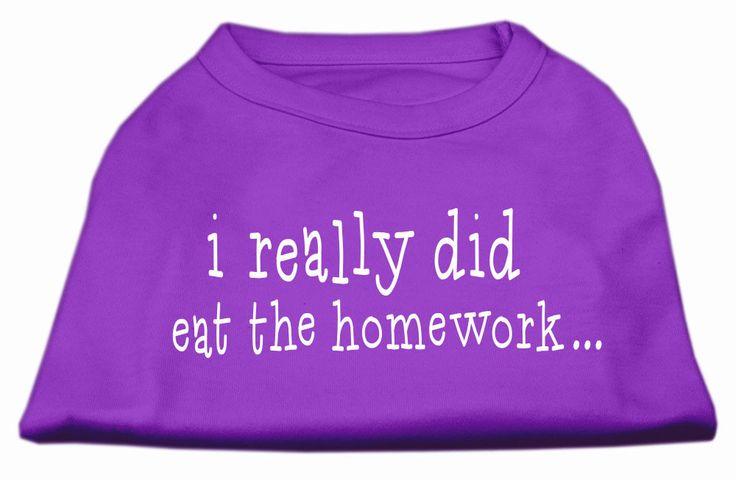 I really did eat the Homework Screen Print Shirt Purple XL (16)