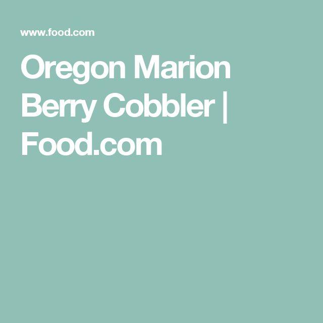 Oregon Marion Berry Cobbler   Food.com