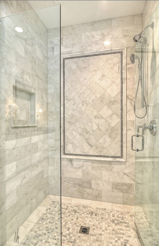 Bathroom Shower. Marble Shower Ideas. #Bathroom #Shower - 10 Best Ideas About Shower Tile Designs On Pinterest Bathroom