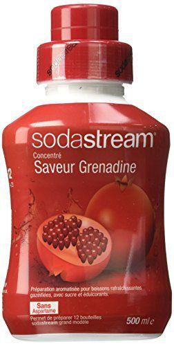 Sodastream Concentré Sirop Saveur Grenadinepour Machine à Soda 500 ml: Garantie : 1 an(s) Matière : Autre Couleur : Clair L'article…