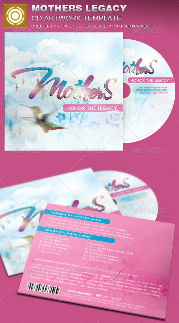 Mothers Legacy CD Artwork Template — Photoshop PSD #creative designs #3d typography • Available here → https://graphicriver.net/item/mothers-legacy-cd-artwork-template/7614257?ref=pxcr