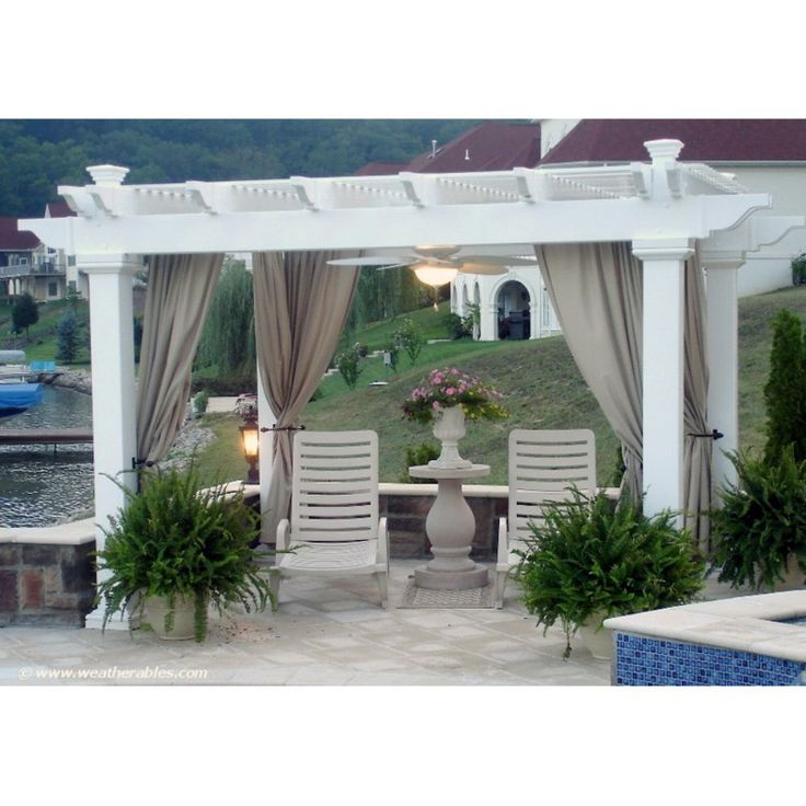Bradenton Vinyl Freestanding 8 ft. Pergola - White - The Bradenton Vinyl Freestanding 8 ft. Pergola - White is the strongest double-beam vinyl pergola kit you'll find. The double beams give it a classic ...