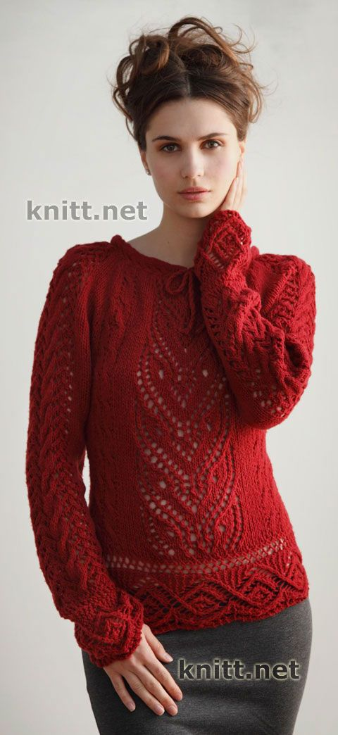 Irish crochet &: KNITTING PULLOVER ... ПУЛОВЕР СПИЦЫ