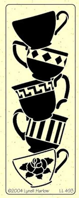 Idea for the applique on the apron, different designs to match the ride though on the cups themselves