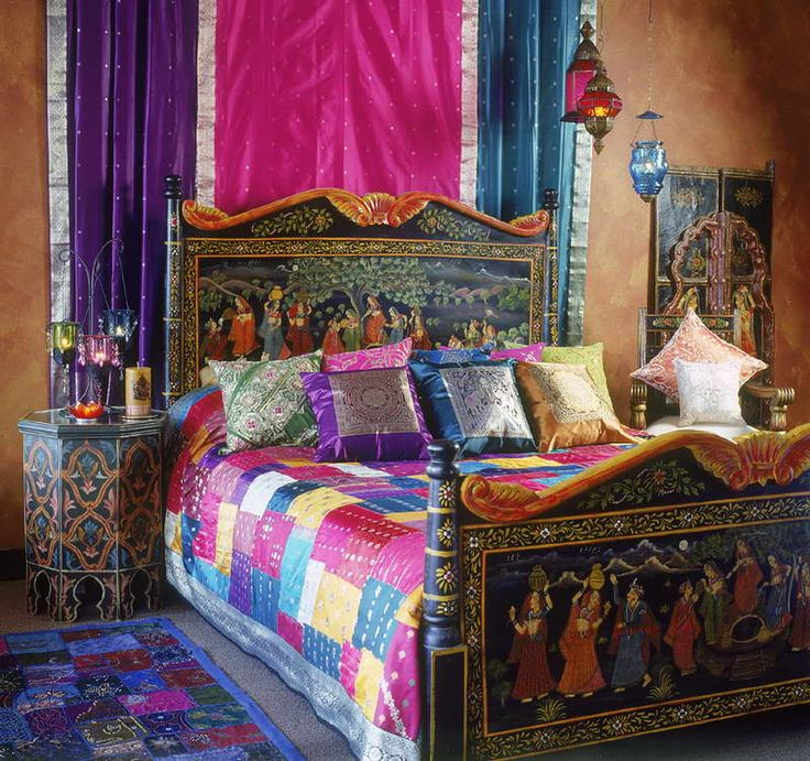 Exotic Indian Bedroom Style