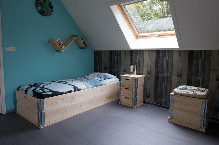 25 beste idee n over lattenbodems op pinterest doe het zelf bedframe en houten lattenbodems - Eenvoudig slaapkamer model ...