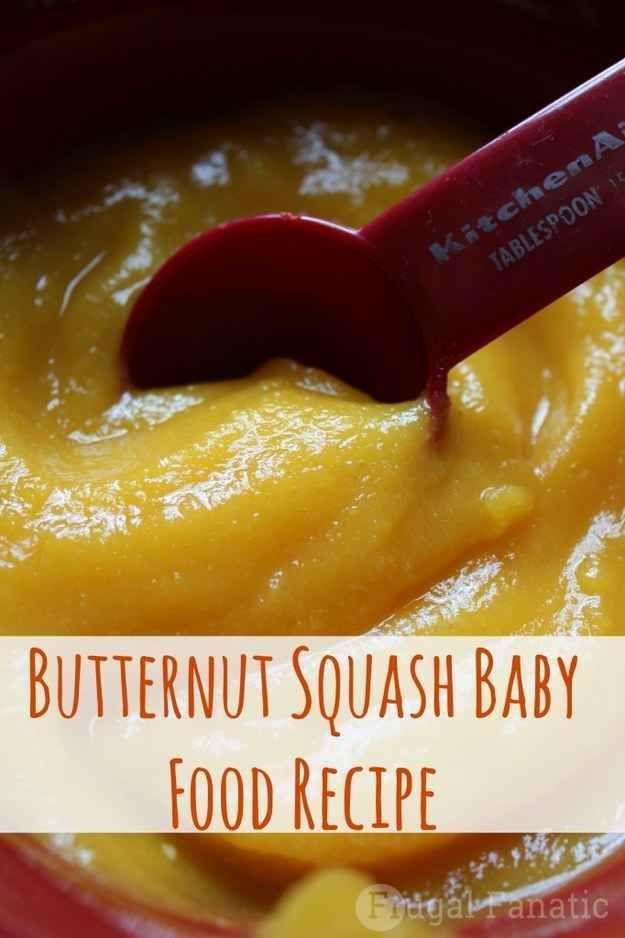 Butternut Squash Puree | 27 Easy DIY Baby Foods