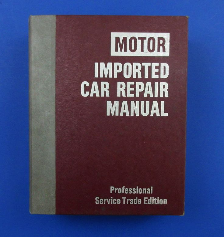 8 best auto repairs images on pinterest repair manuals engine and motor imported car repair manual pro service trade edition 1979 thru 1985 fandeluxe Choice Image