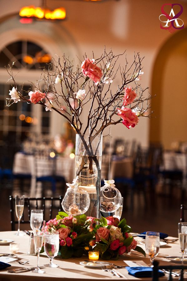 Best coral flower centerpieces ideas on pinterest