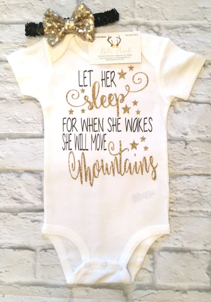 A personal favorite from my Etsy shop https://www.etsy.com/listing/512076871/baby-girl-clothes-let-her-sleep-for-when