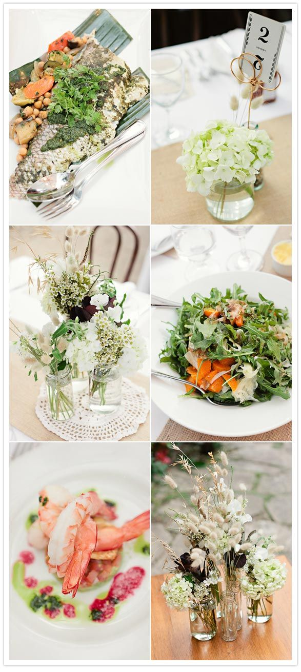 love the color palette of white and green by [louisa bailey] via [100layercake]