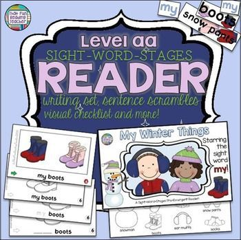 The earliest readers enjoy reading about the things they put on in the winter at the PreEmergent Level aa, with just 2 words per page, various line art options and follow up activities! $ #winter #teaching #guidedreading #kindergarten #primary #teachingresources