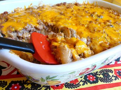 SPLENDID LOW-CARBING BY JENNIFER ELOFF: THE WORKS DOUBLE CHEDDAR HAMBURGER CASSEROLE - Lots of veggies in this ...like hamburger helper - Feeds a big family.  Visit us at: https://www.facebook.com/LowCarbingAmongFriends