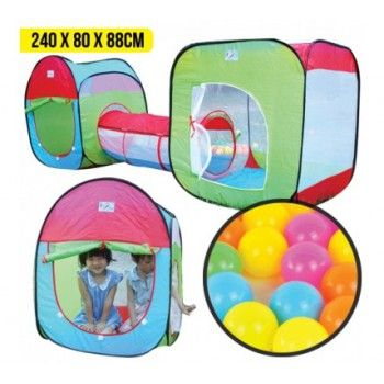 $19.99 (Normally $49.90) Pop Up Tent with Tunnel & Balls @ Off The Back - Bargain Bro