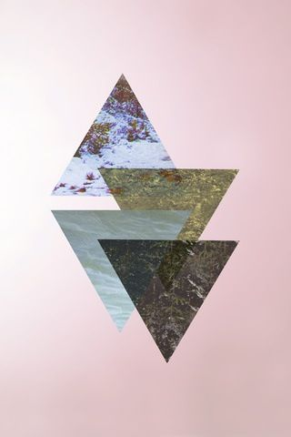 Triangles with transparency settings