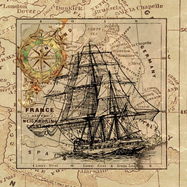 20  More Free Printable Vintage Map Images