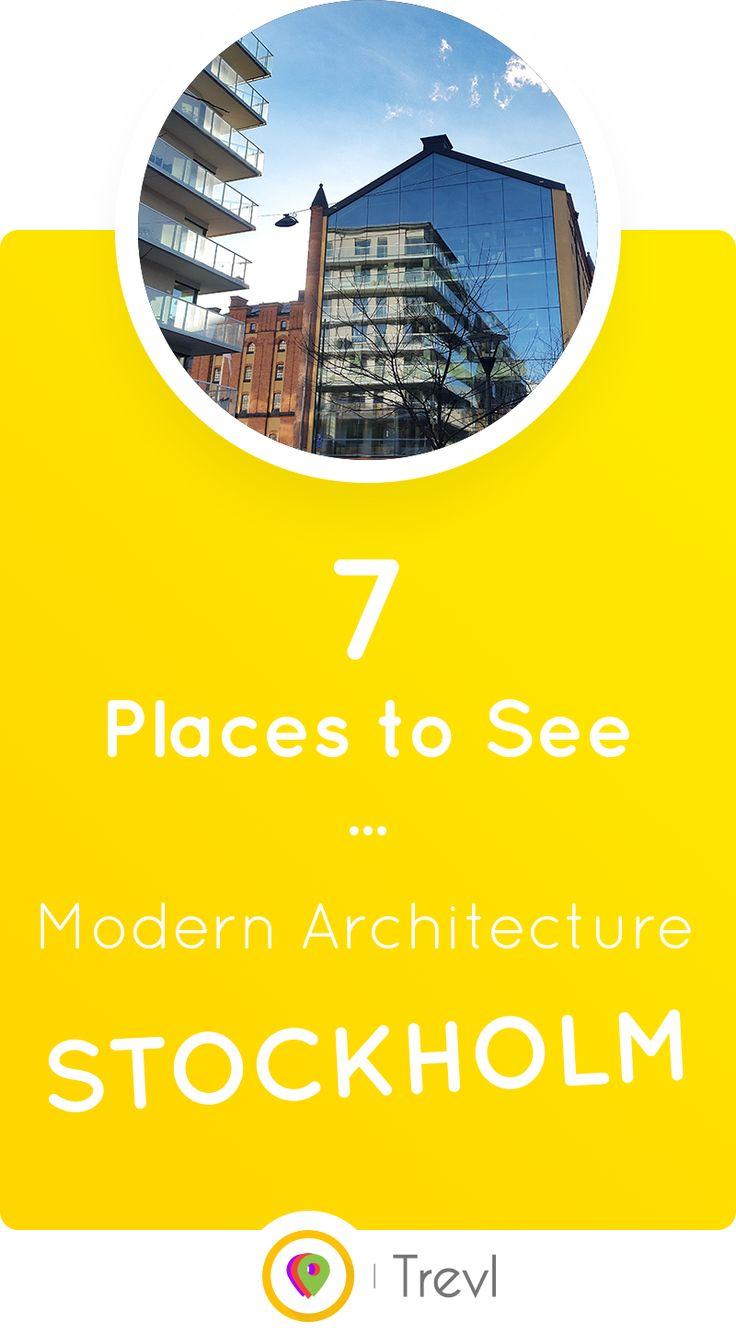 Find the most beautiful examples of modern architecture to see in Stockholm, Sweden.
