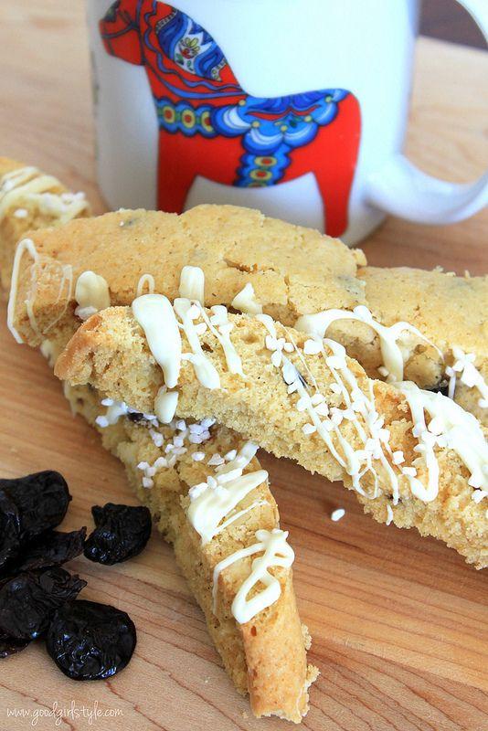Cherry Almond White Chocolate Biscotti | Recipes | Pinterest