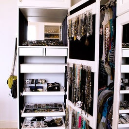 jewelry storage & display  California Closets