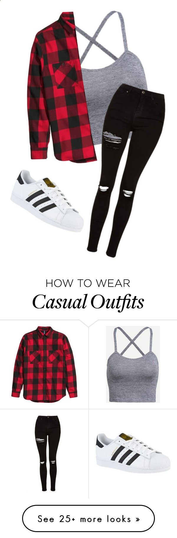 Casual by myhrer714 on Polyvore featuring Topshop and adidas Clothing, Shoes & J... 2